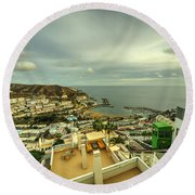 Puerto Rico From Above  Round Beach Towel