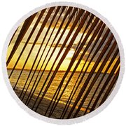 Puerto Rico Sunset 2 Round Beach Towel