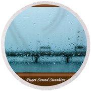 Puget Sound Sunshine Round Beach Towel