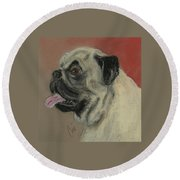 Pugster Round Beach Towel