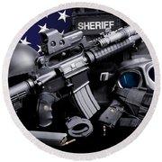 Pulaski Sheriff Tactical Round Beach Towel