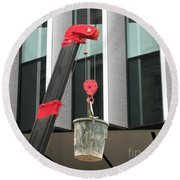Pulley And Pail Round Beach Towel