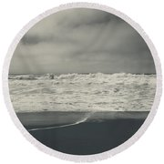 Pulling Me In Round Beach Towel by Laurie Search