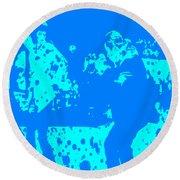 Pulp Fiction Dance Blue Round Beach Towel