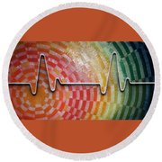 Pulse Round Beach Towel