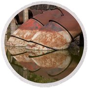 Pumphouse Intake Pipes Round Beach Towel