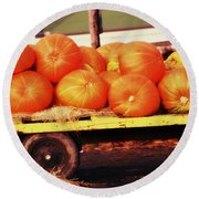 Pumpkin Load Round Beach Towel