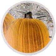 Pumpkin Patch - Photopower 1563 Round Beach Towel