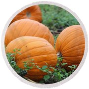 Pumpkin Pie Round Beach Towel