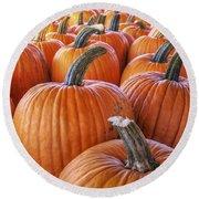 Pumpkins Galore - Autumn - Halloween Round Beach Towel