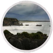 Punakaiki Rocks Round Beach Towel