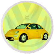 Punch Buggy Round Beach Towel by Bob Orsillo