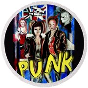 Punk Style Round Beach Towel