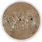 Puppy Brigade Round Beach Towel