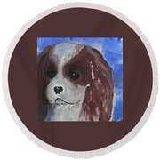 Puppy Doll Round Beach Towel
