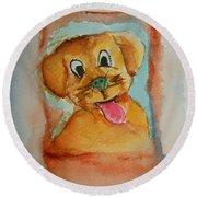 Puppy Round Beach Towel