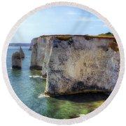 Purbeck - Dorset Round Beach Towel by Joana Kruse