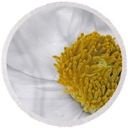 Pure And A Heart Of Gold Round Beach Towel
