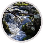 Pure Mountain Stream Round Beach Towel