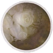Pure Roses Round Beach Towel