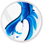 Pure Water 260 Round Beach Towel by Sharon Cummings