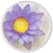 Purity And Grace Round Beach Towel