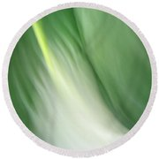 Purity And Peace Round Beach Towel