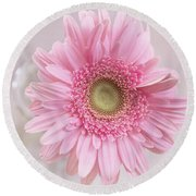 Purity Of The Heart Round Beach Towel