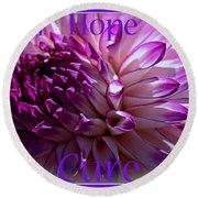 Purple Awareness Support Round Beach Towel