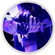 Purple Blue Fish...   # Round Beach Towel