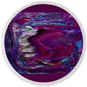 Purple Craze Round Beach Towel