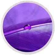 Purple Daydream Round Beach Towel