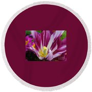 Purple Dual Coloured Tulip Round Beach Towel