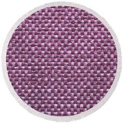 Purple Fabric Round Beach Towel