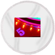 Purple Five Round Beach Towel