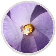 Purple Flower Square Round Beach Towel