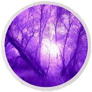 Purple Haze Round Beach Towel