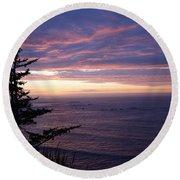 Purple Majesty Round Beach Towel