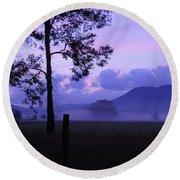 Purple Mountain Majesty Round Beach Towel