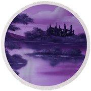 Purple Palace For Sale Round Beach Towel