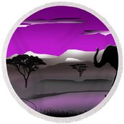 Purple Parkland Round Beach Towel