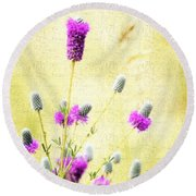 Purple Passion Texture Round Beach Towel