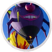 Purple People Eater And Friend Round Beach Towel
