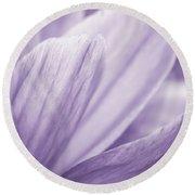 Purple Petals Round Beach Towel
