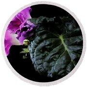 Purple Plant Round Beach Towel