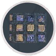 Purple Prism Glass In A Square Round Beach Towel