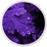 Purple Rain Round Beach Towel