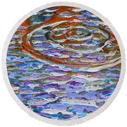 Purple Ripple Round Beach Towel