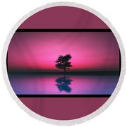 Purple Sky... Round Beach Towel
