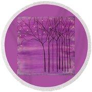 Purple Spring Round Beach Towel